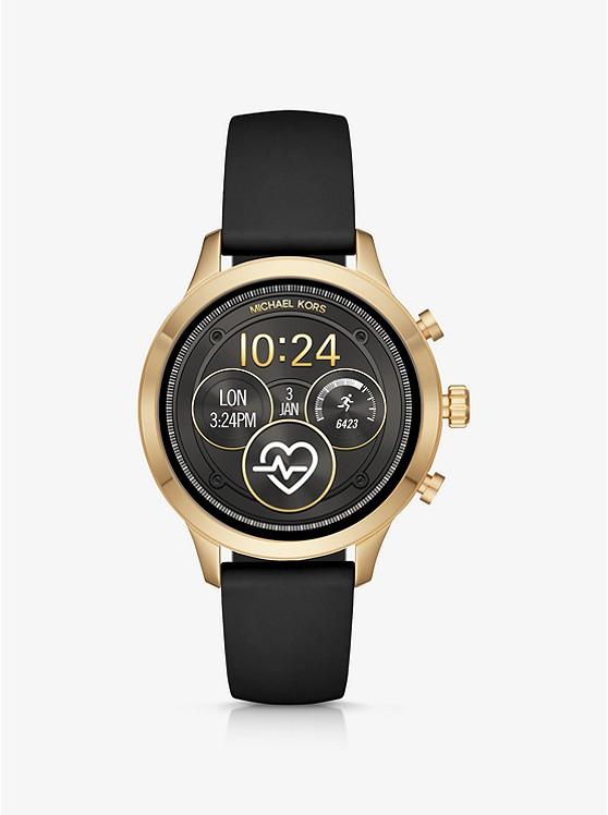 4c04c6d8506e Reloj Inteligente Runway Heart Rate En Tono Dorado De Silicona ...