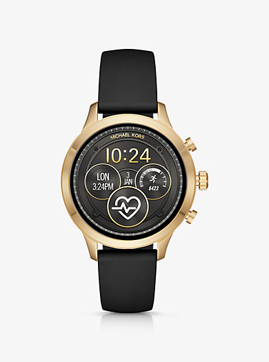 3bcf2e46f277 Runway Gold-Tone and Silicone Smartwatch