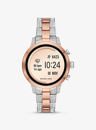 Runway Heart Rate Pavé Two Tone Smartwatch