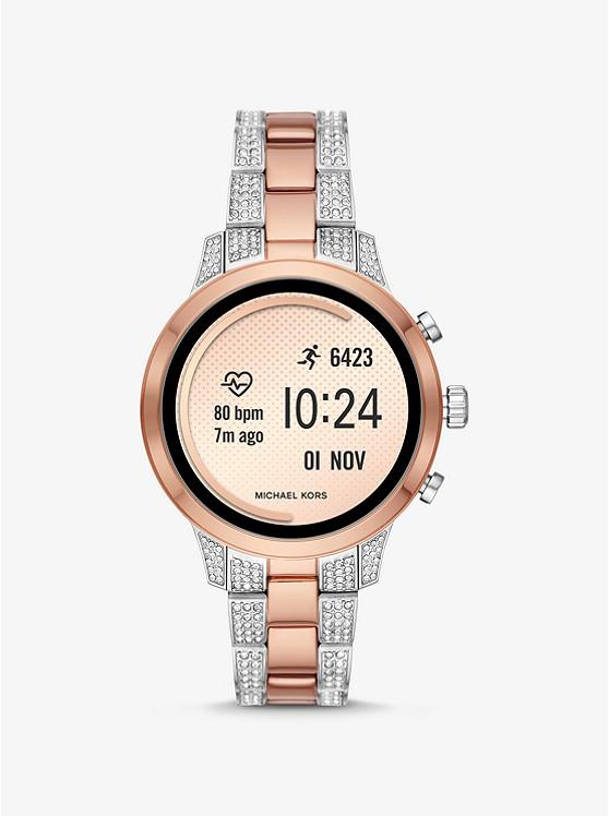 Runway Heart Rate Pavé Two-tone Smartwatch | Michael Kors