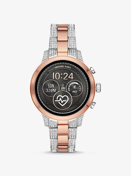 c176eb18e73 Runway Pavé Two-Tone Smartwatch. michael kors ...