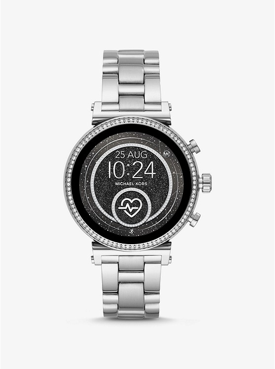 Sofie Heart Rate Silver Tone Smartwatch by Michael Kors Access