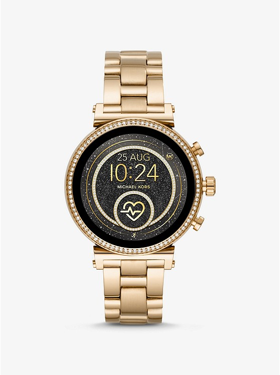 Sofie Heart Rate Gold Tone Smartwatch