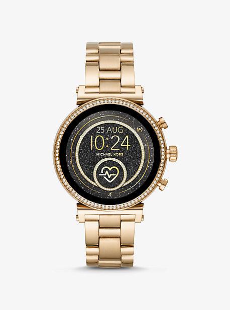 ec334261acda Sofie Heart Rate Gold-Tone Smartwatch. michael kors ...