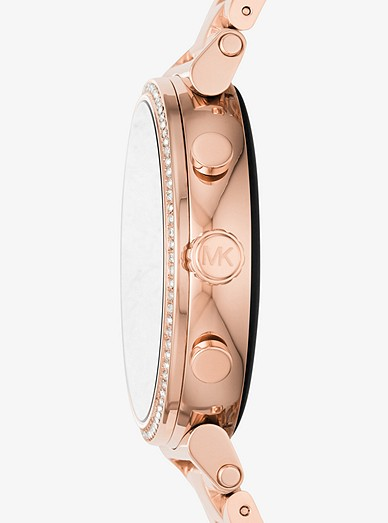 d7aff91c0ae3 Sofie Heart Rate Rose Gold-tone Smartwatch