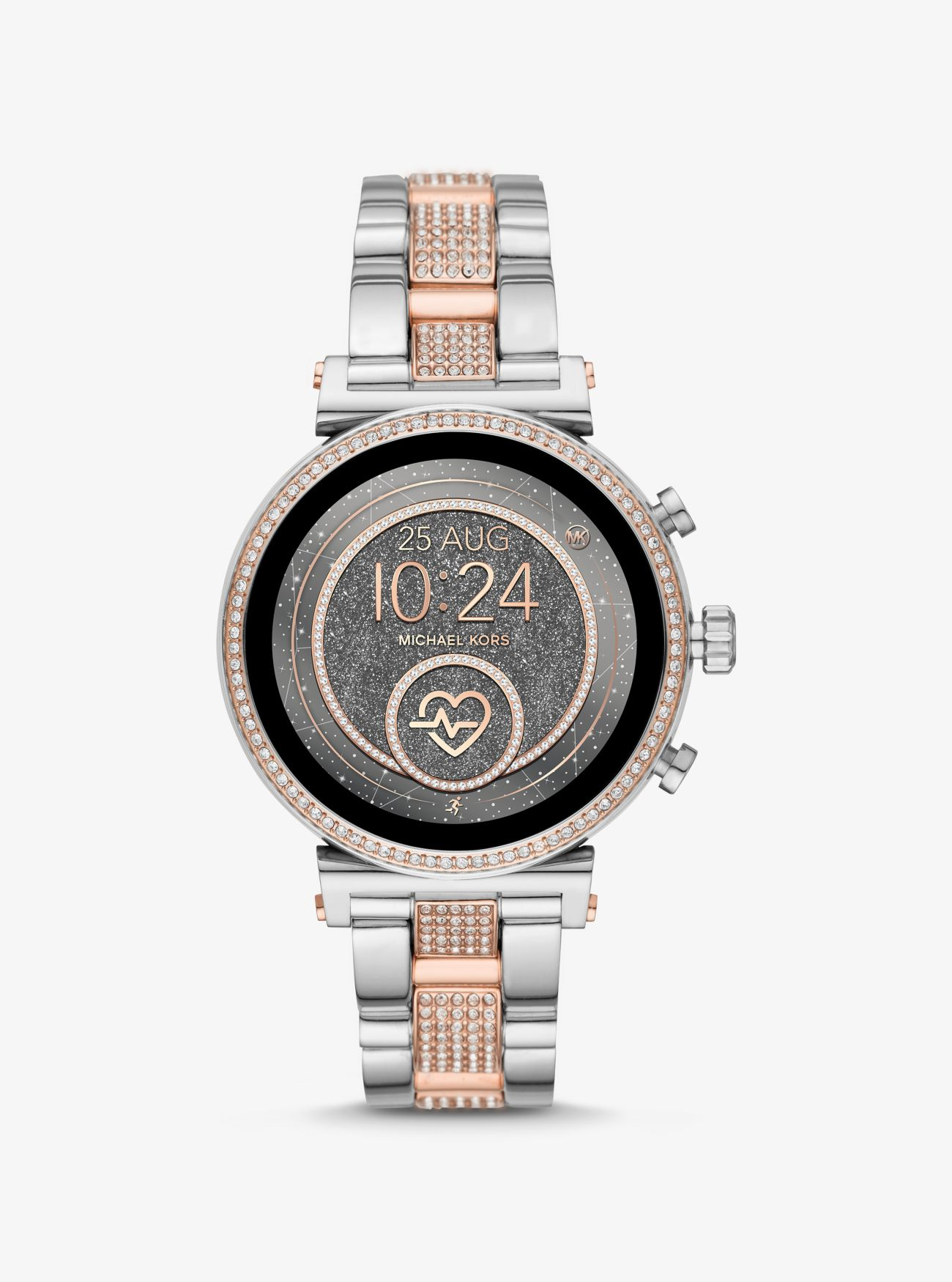 Sofie Heart Rate Pavé Two Tone Smartwatch