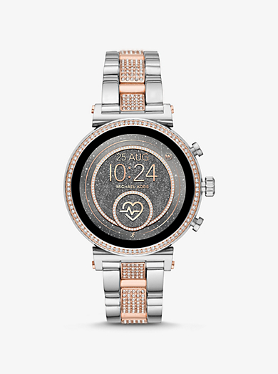 d6fe609dec Smartwatch Sofie Heart Rate bicolore con pavé · michael kors access ·  Smartwatch ...