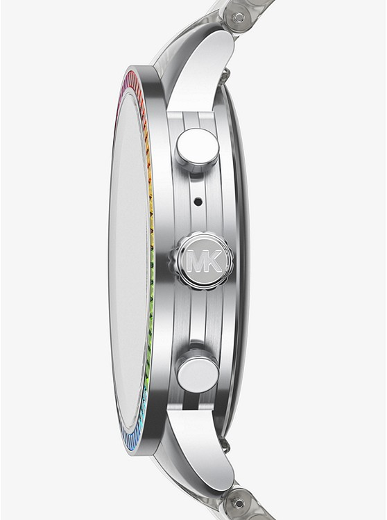 12411f4f18 Runway Heart Rate Acetate And Rainbow Pavé Smartwatch | Michael Kors