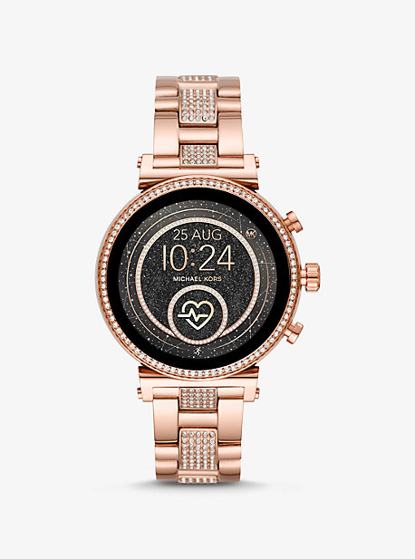 a5b32ea54ffb Sofie Heart Rate Pavé Rose Gold-Tone Smartwatch