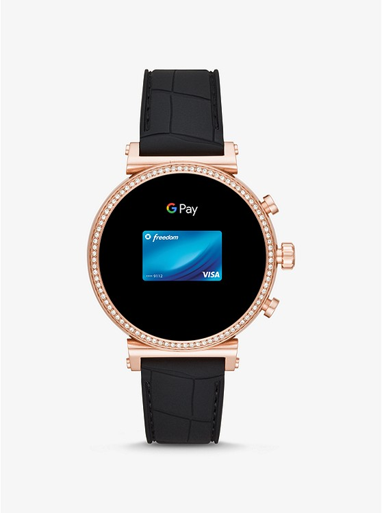 Rate En De Tono Sofie Inteligente Reloj Rosa Heart Silicona Dorado HDEI2W9Y