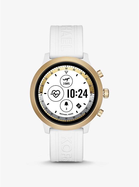 Montre connectée Michael Kors Access Gen 4 MKGO dorée avec bracelet en silicone