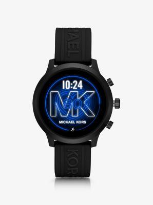 마이클 코어스 스마트 워치 Michael Kors Access Gen 4 MKGO Black-Tone and Silicone Smartwatch,BLACK
