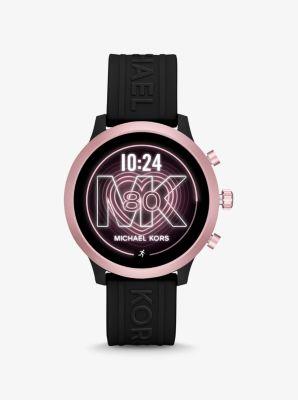 마이클 코어스 스마트 워치 Michael Kors Access Gen 4 MKGO Pink-Tone and Silicone Smartwatch,BLACK