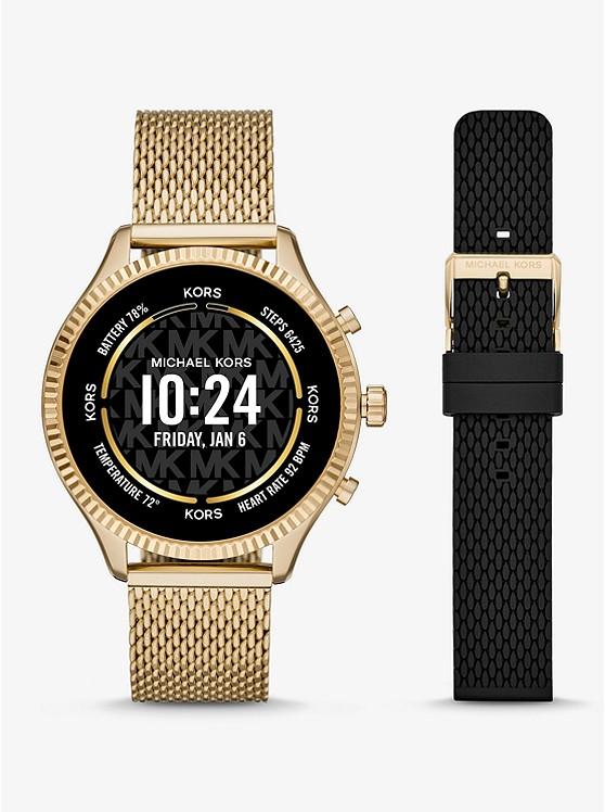 Gen 5 Lexington Gold-Tone Smartwatch Gift Set