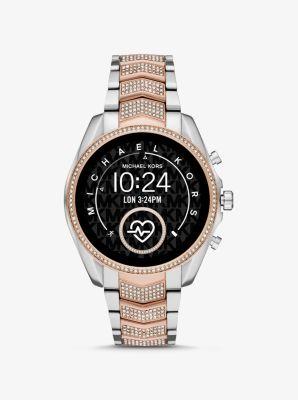 마이클 코어스 스마트워치 Michael Kors Gen 5 Bradshaw Pave Two-Tone Smartwatch,ROSE GOLD