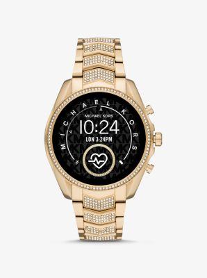 마이클 코어스 스마트워치 Michael Kors Gen 5 Bradshaw Pave Gold-Tone Smartwatch,GOLD