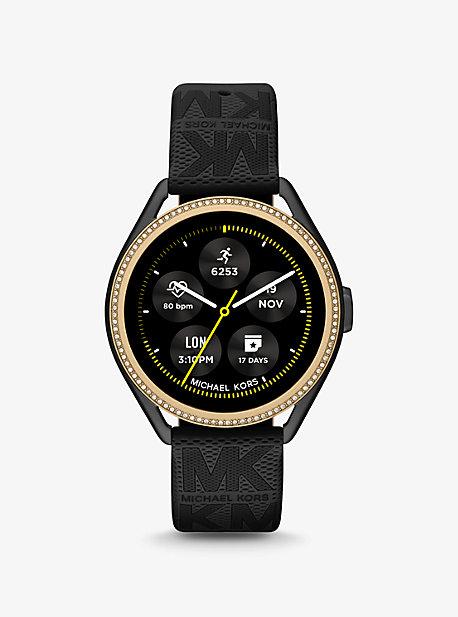 마이클 코어스 Michael Kors Michael Kors Access Gen 5E MKGO Two-Tone and Logo Rubber Smartwatch,BLACK