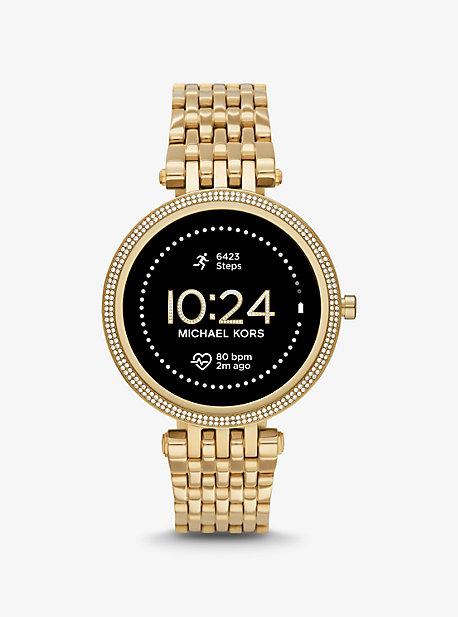 마이클 코어스 Michael Kors Gen 5E Darci Pave Gold-Tone Smartwatch,GOLD