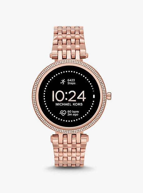 마이클 코어스 Michael Kors Gen 5E Darci Pave Rose Gold-Tone Smartwatch,ROSE GOLD
