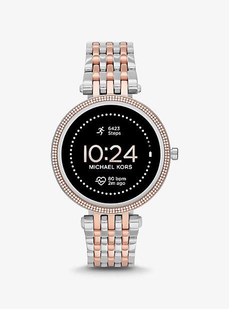 마이클 코어스 스마트워치 Michael Kors Gen 5E Darci Pave Two-Tone Smartwatch,TWO TONE