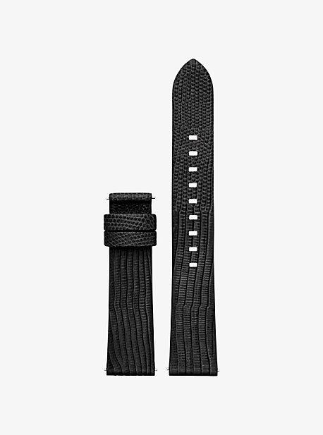 마이클 코어스 스마트 워치 스트랩 Michael Kors Gen 3 Sofie Embossed-Leather Smartwatch Strap,BLACK