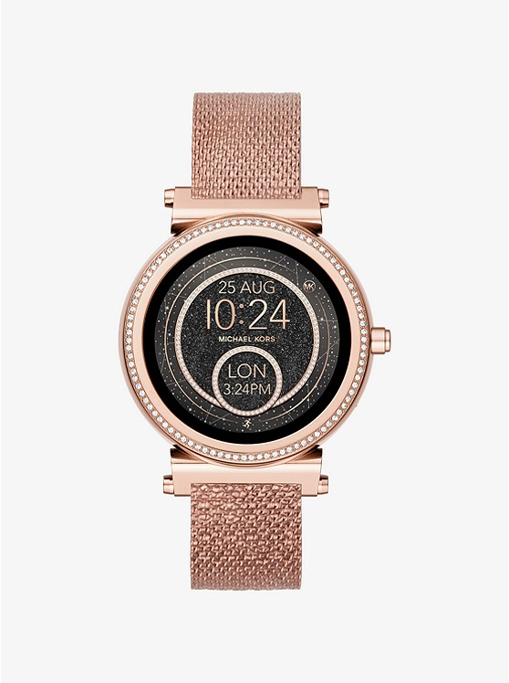 mk smart watch rose gold