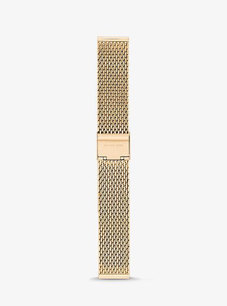 마이클 코어스 스마트워치 Michael Kors Gen 3 Runway Gold-Tone Mesh Smartwatch Strap,GOLD
