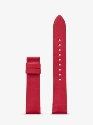 마이클 코어스 스마트워치 가죽 스트랩 Michael Kors Gen 4 Sofie Leather Smartwatch Strap,RED