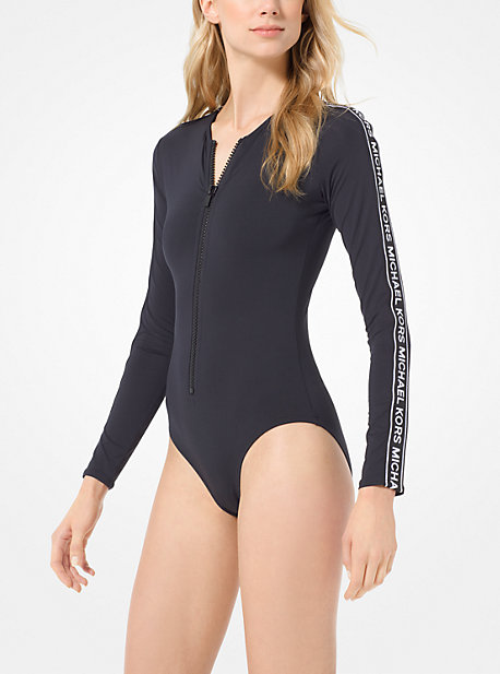 b939b892a4288 Logo Tape Surf Swimsuit. michael michael kors ...