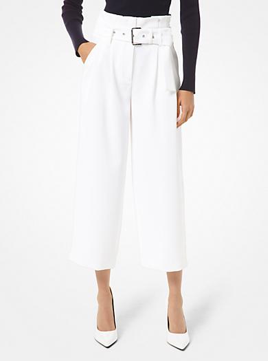 Pantalone in crêpe con cintura