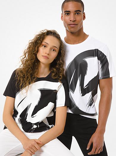 T-shirt unisex in jersey di cotone con logo