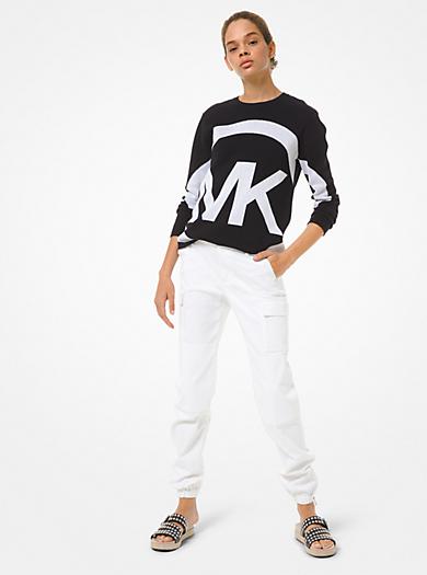 Pullover in cotone con logo