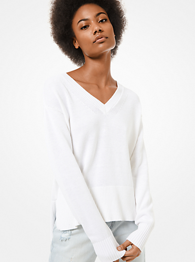 Pullover in cotone e cashmere