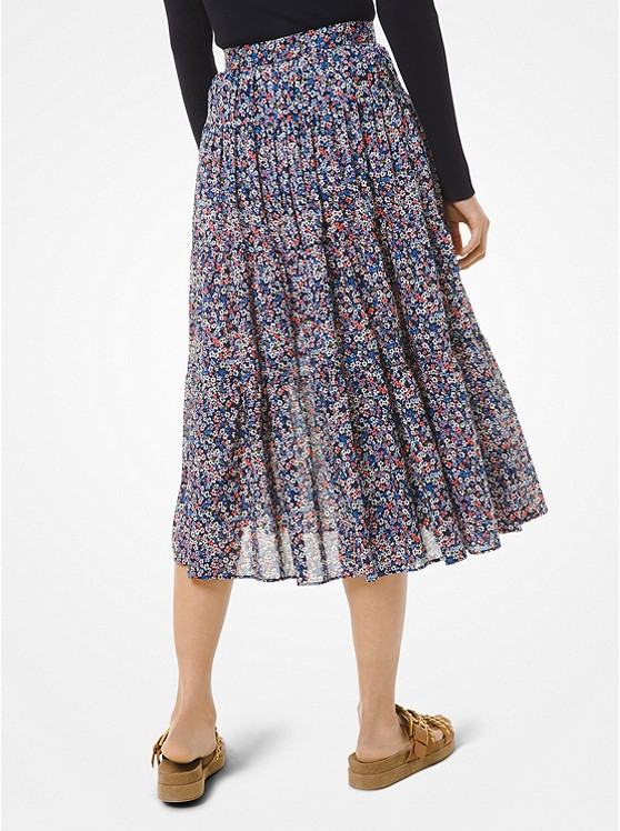 Floral Cotton Lawn Skirt