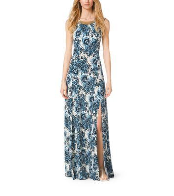 Paisley Print Maxi Dress Michael Kors