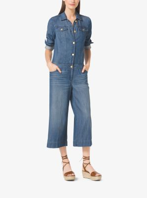 Wide-Leg Denim Jumpsuit | Michael Kors