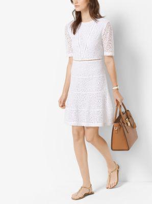 40bf1e18e98 Leopard Lace Cotton-Blend A-Line Dress