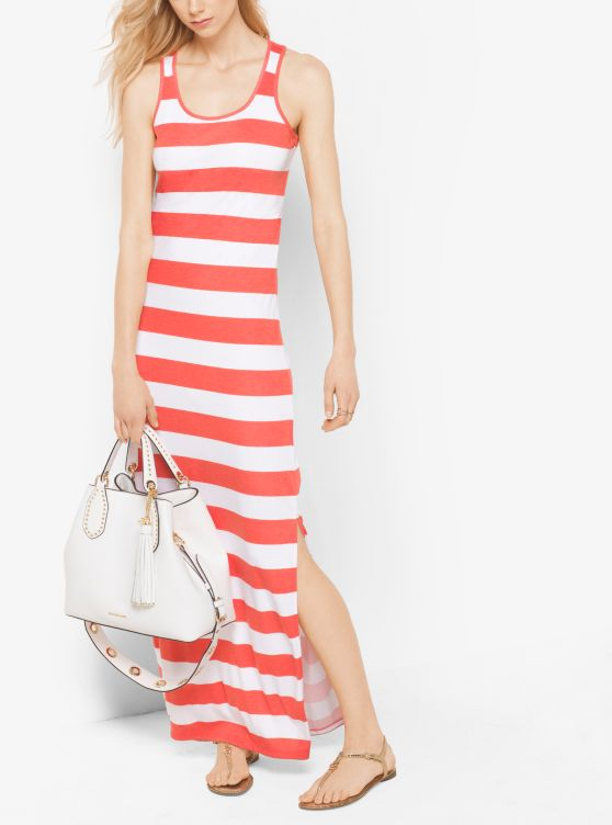 Striped Jersey Maxi Dress _preview0