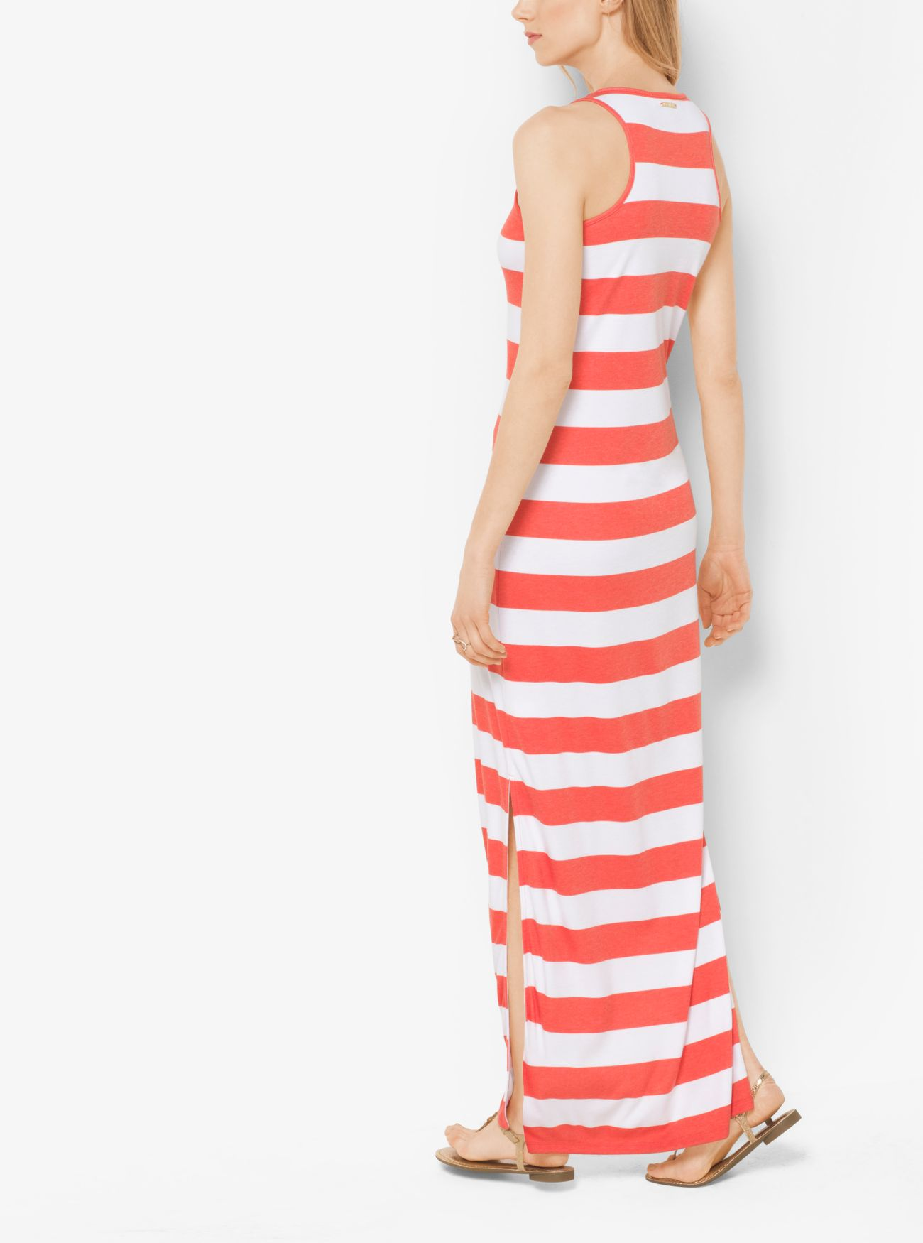 Striped Jersey Maxi Dress