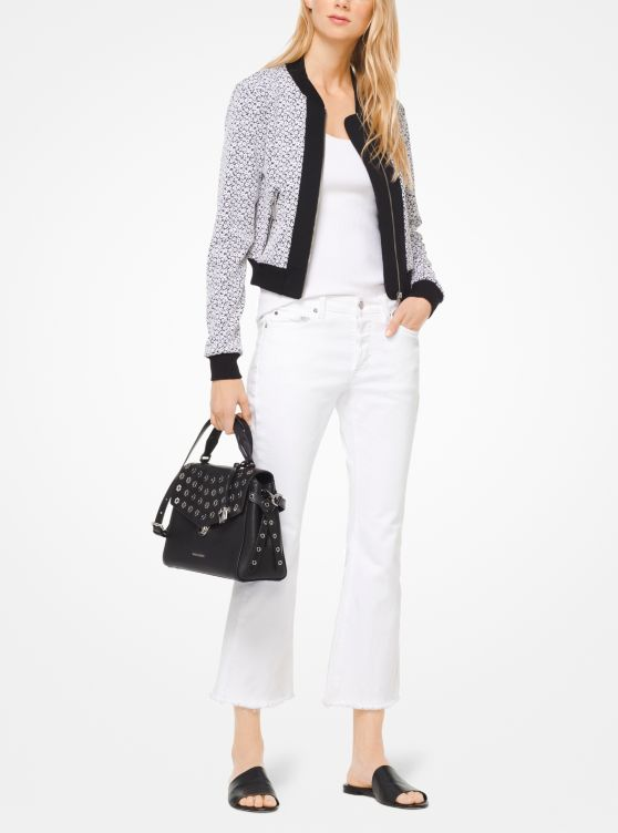Floral Jacquard Bomber Jacket by Michael Michael Kors