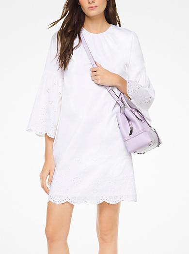 Robe en popeline de coton à œillets 7a4903cf3ab