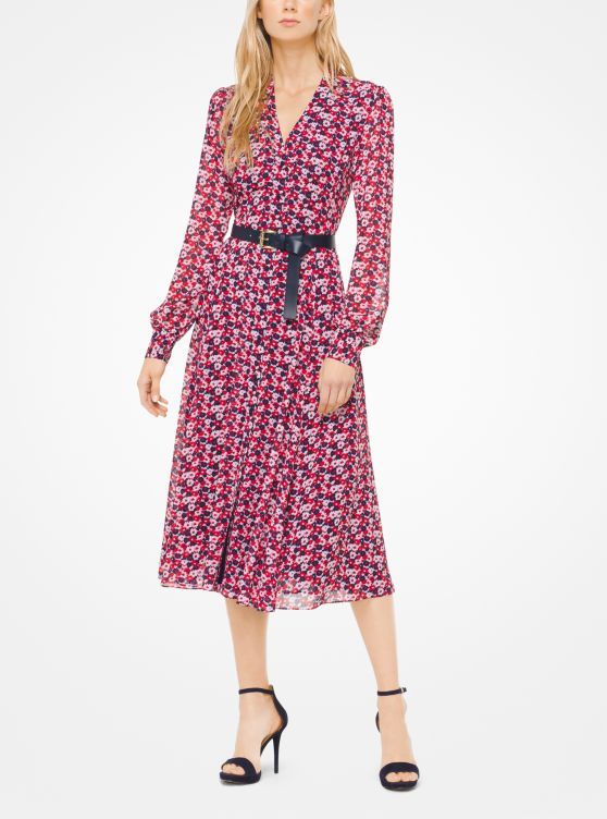 Carnation Georgette Shirtdress by Michael Michael Kors