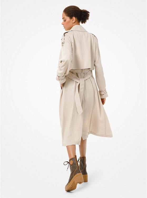 Draped Trench Coat