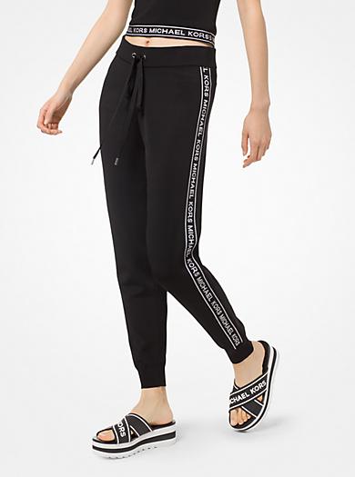 8d3bbab837 Pantalon de jogging en viscose avec bande à logos