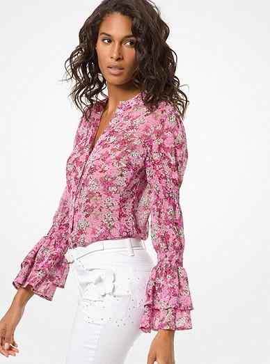 a602321c85b521 Floral Chiffon Blouse | Michael Kors