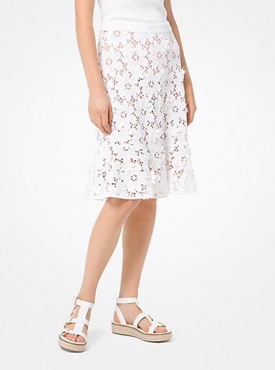8ff7394ec95d Floral Appliqué Lace Skirt · michael michael kors · Floral Appliqué Lace  Skirt