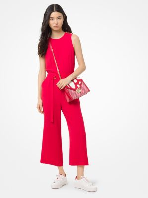 Stretch Crepe Belted Jumpsuit by Michael Michael Kors