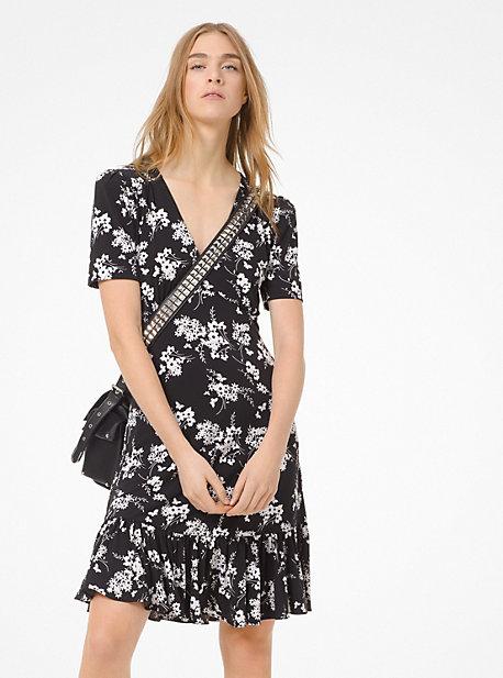 2c2fa26d83 Botanical-Print Matte-Jersey Dress