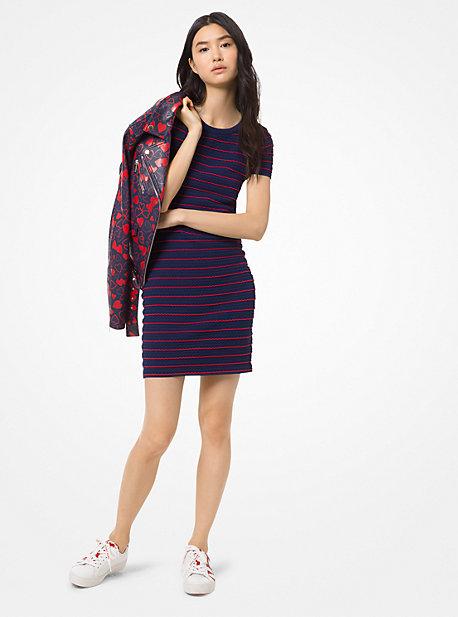 c6824ad2e1 Ruffled Stripe Stretch-Viscose Dress