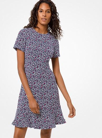 27a009618d4 Heart-print Flounce Dress